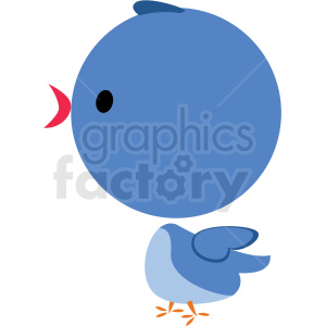 baby cartoon bird vector clipart clipart. Royalty-free image # 411366