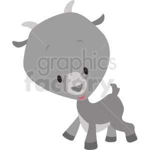 baby cartoon goat vector clipart clipart. Commercial use icon # 411396