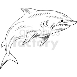 black white dolphin vector clipart clipart. Royalty-free image # 411424