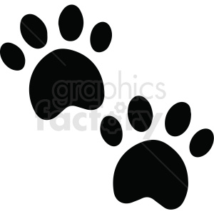 paw prints vector clipart. Commercial use icon # 411476