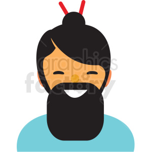 asian man avatar icon vector clipart clipart. Commercial use image # 411521