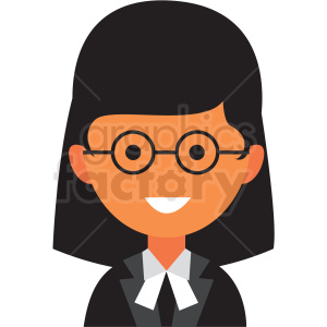 female judge avatar icon vector clipart clipart. Commercial use image # 411555