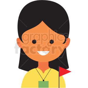 female travel guide avatar icon vector clipart clipart. Commercial use image # 411557
