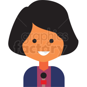 journalist emote icon vector clipart clipart. Commercial use image # 411558