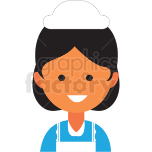 female maid icon vector clipart clipart. Commercial use image # 411568