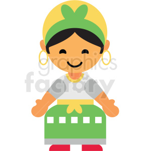Brazil female character icon vector clipart clipart. Royalty-free image # 411571