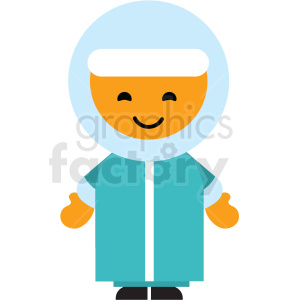 Eskimo man character icon vector clipart clipart. Commercial use image # 411587
