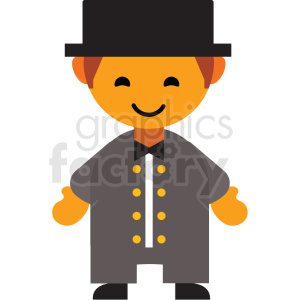 male Jewish character icon vector clipart