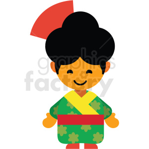 japan female character icon vector clipart clipart. Royalty-free image # 411601