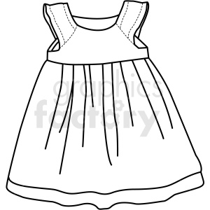 black white child dress icon vector clipart clipart. Commercial use image # 411701