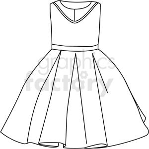 black white small dress vector clipart clipart. Royalty-free image # 411704