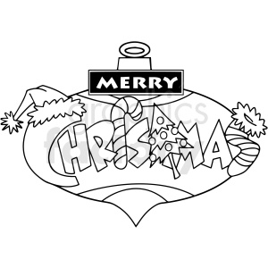 merry christmas cartoon vector clipart clipart. Commercial use image # 411776