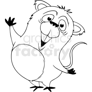 black and white cartoon baby koala bear vector clipart clipart. Royalty-free image # 411808