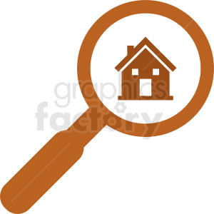 realestate searching vector icon clipart. Commercial use image # 411842