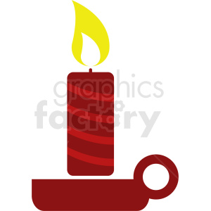 red candle burning clipart clipart. Commercial use icon # 411871