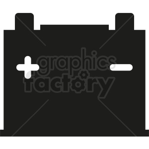 car battery icon clipart. Royalty-free image # 411885