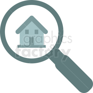 house searching icon vector clipart. Commercial use image # 411896
