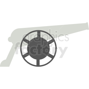 cannon flat vector design clipart. Royalty-free image # 411918