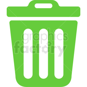 green trash icon vector design clipart. Commercial use image # 411925