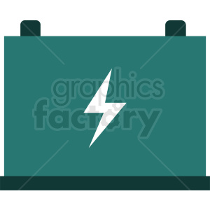 car battery vector icon design clipart. Royalty-free image # 411958