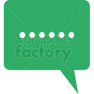 green chat icon vector clipart. Commercial use image # 412096