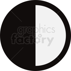 contrast vector icon circle clipart. Commercial use image # 412111
