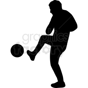 soccer player kicking ball silhouette vector clipart clipart. Royalty-free image # 412155