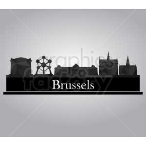 Brussels city vector clipart. Commercial use image # 412179
