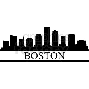 Boston city vector design clipart. Commercial use image # 412180