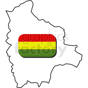 Bolivia country outline clipart clipart. Royalty-free image # 412200