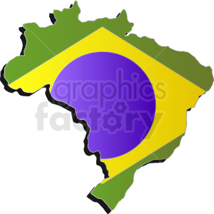 Brazil country vector design clipart. Royalty-free image # 412220