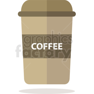 coffee travel cup vector clipart. Royalty-free image # 412245