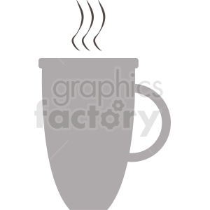 gray coffee cup design clipart. Commercial use image # 412263