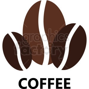 coffee beans logo vector template clipart. Royalty-free image # 412278