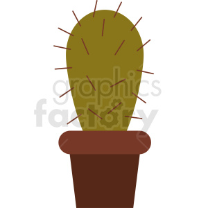 cartoon cactus art clipart. Commercial use image # 412372