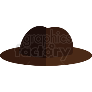 fedora hat vector clipart. Royalty-free image # 412391