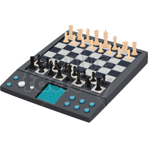 electronic chess board vector clipart clipart. Royalty-free image # 412488