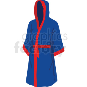 red and blue boxing robe vector clipart clipart. Commercial use image # 412519