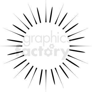 star burst vector clipart clipart. Royalty-free image # 412560