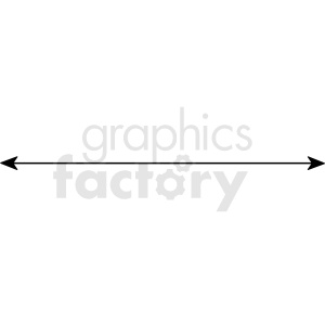 solid line with arrows ends vector asset clipart. Commercial use image # 412573