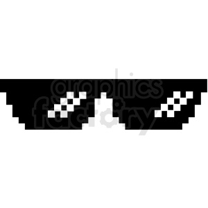 thug life 8 bit sunglasses svg cut file clipart. Commercial use image # 412613