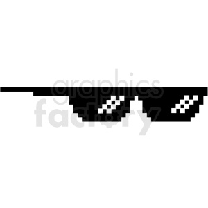 thug life 8 bit sunglasses right svg cut file clipart. Royalty-free image # 412619