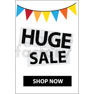 huge sale shop now icon vector clipart clipart. Royalty-free image # 412670
