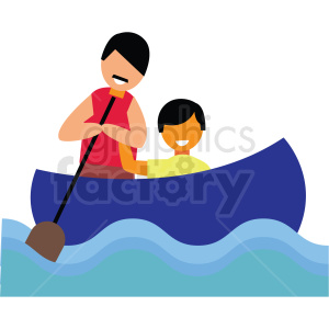 rafting vector clipart clipart. Commercial use image # 412739