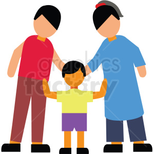 family posing vector clipart clipart. Commercial use image # 412749
