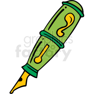 cartoon pen vector clipart. Commercial use image # 412863