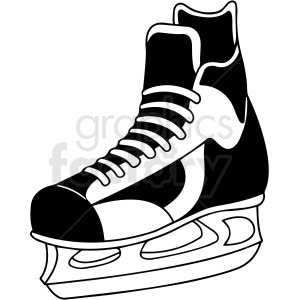 hockey skate clipart design