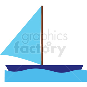 sailboat vector clipart icon clipart. Royalty-free image # 412973