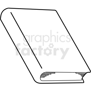 black and white book design outline vector clipart clipart. Royalty-free image # 412999