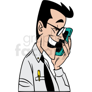 guy talking into his phone vector clipart